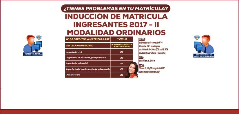 INDUCCIÓN DE MATRÍCULA2017-II